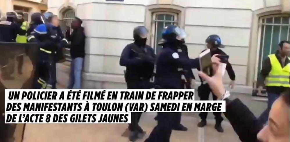 Le policier de Toulon qui a frappé des manifestants a déjà été ... fa00077f5204