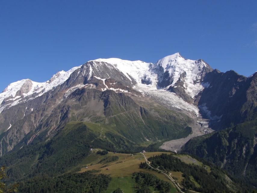 Massif du mont Blanc vu du Prarion