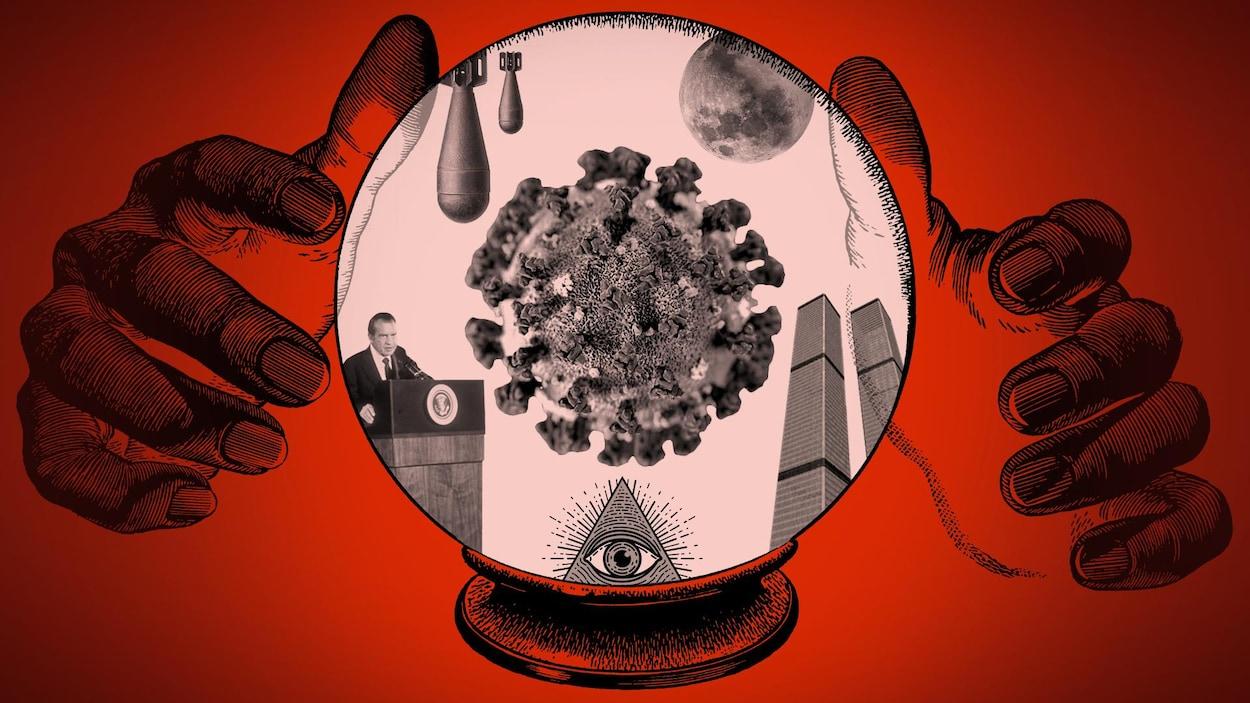 complots-irak-watergate-coronavirus-covid-19-lune-world-trade-center-pyramide