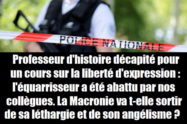 attentat-police-gendarmerie-douane-legitime-defense-conflans-terrorisme-professeur-macron-darmanin-dupond-moretti