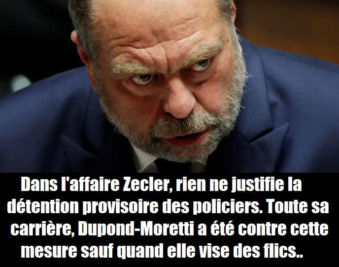 zecler-bavure-policiere-dupond-moretti-detention-provisoire-syndicat-de-police