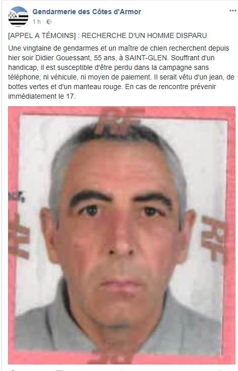 recherche homme disparu La Courneuve