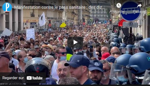 Manifestation contre le pass sanitaire : des dizaines de milliers de personnes à nouveau dans les rues