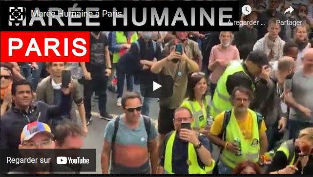 Marée humaine à PARIS