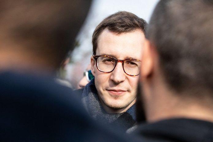 François Boulo, le 23 mars 2019, lors de l'acte 19 du mouvementHans Lucas via AFP