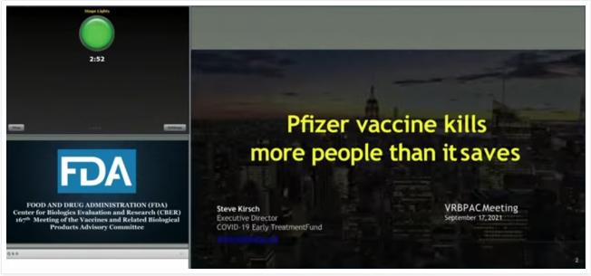 FDA : Les Vaccins tuent plus qu'ils ne sauvent de Vie !